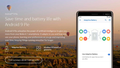 Nokia 6.1 Phone with Android 9 Pie