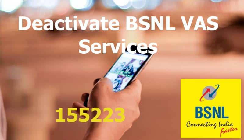 Deactivate BSNL VAS Services