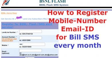 Register Mobile and Email for BSNL connection