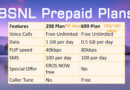 BSNL 298 and 699 Plan Details Comparison Table